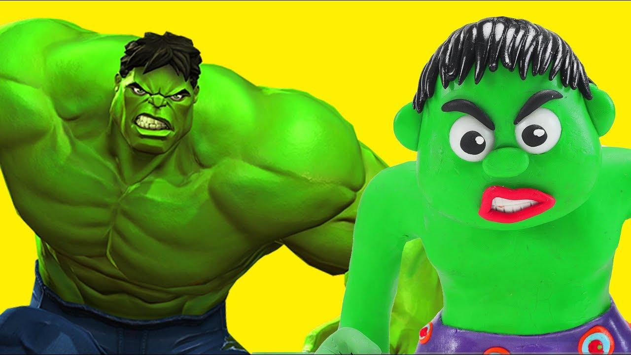 BABY HULK AND FROZEN ELSA WORKOUT | Superhero Babies, Hulk & Frozen Play Doh Cartoons For Kids