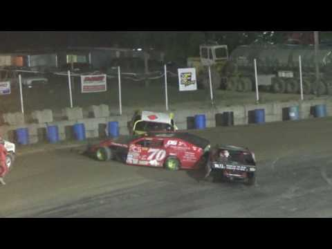 I.M.C.A. Feature Race at Crystal Motor Speedway, Michigan on 07-29-17