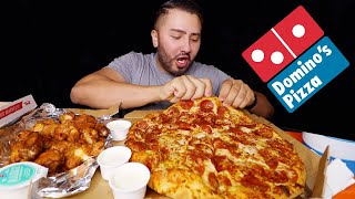 Dominos Pizza & Wings MUKBANG