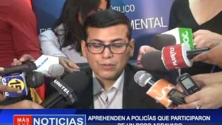 APREHENDEN A POLICÍAS  QUE PARTICIPARON DE UN ROBO AGRAVADO
