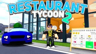 New car and LOTS of CUSTOMERS (too many)! -Roblox Restaurant Tycoon 2 #3 Danish with ComKean