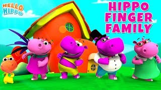 Hippo Finger Family Song EP. 19 + More 3D Nursery Rhymes & Kids Songs - Hello Hippo