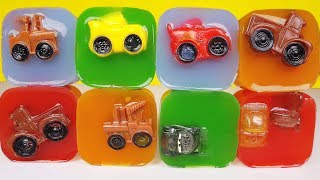 Mini Racers Mashems Squishy Pops go into colored jelly Disney Cars 3 Toys