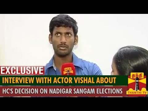 Interview with Actor Vishal about Madras HC's Decision on Nadigar Sangal Election - Thanthi TV
