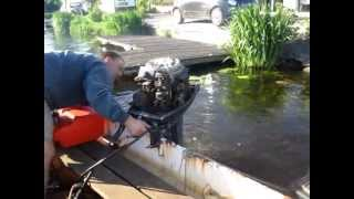 Video2 Yamaha Moteur Hors-Bord 40 chevaux Demarrage avec moteur froid