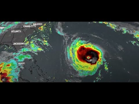 Hurricane Florence weakens to a Category 2 storm as it approaches the coast