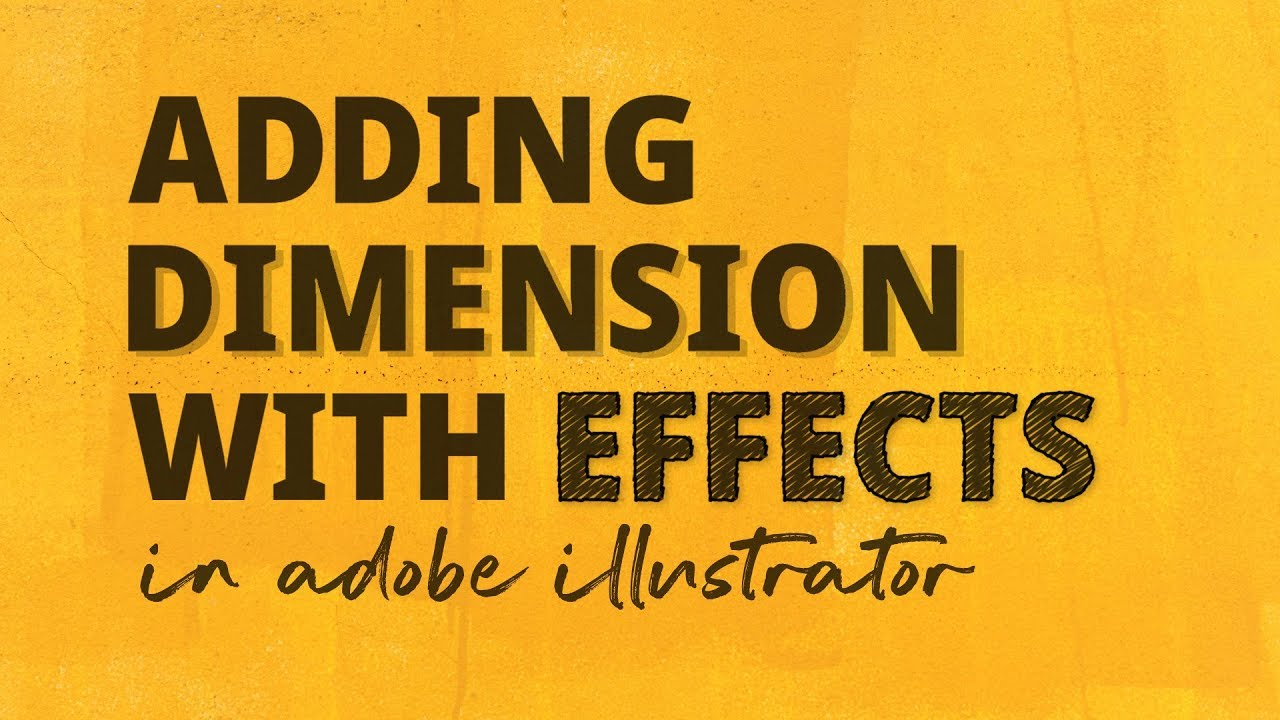 How to add Dimension with Effects in Adobe Illustrator
