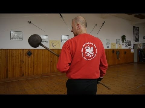 Bayonet fencing training and drill