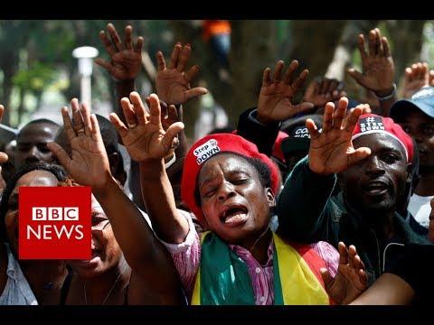 Mugabe 'resigns' : Joy in Zimbabwe's Capital Harare - BBC News