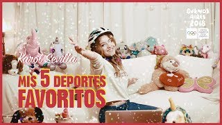 Karol Sevilla I Mis 5 Deportes Favoritos I #5DeportesFavoritos thumbnail
