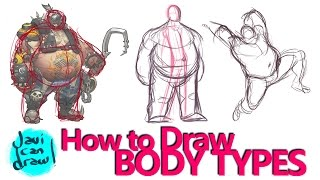 HOW TO DRAW BODY TYPES A PROCESS TUTORIAL