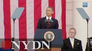 Obama Speaks at Arlington National Cemetery
