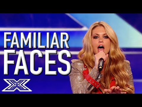 Familiar FAMOUS Faces On The X Factor UK | X Factor Global