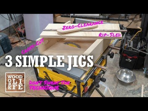 3 Simple Jigs to get Professional Results from any Table Saw | Shop Tips