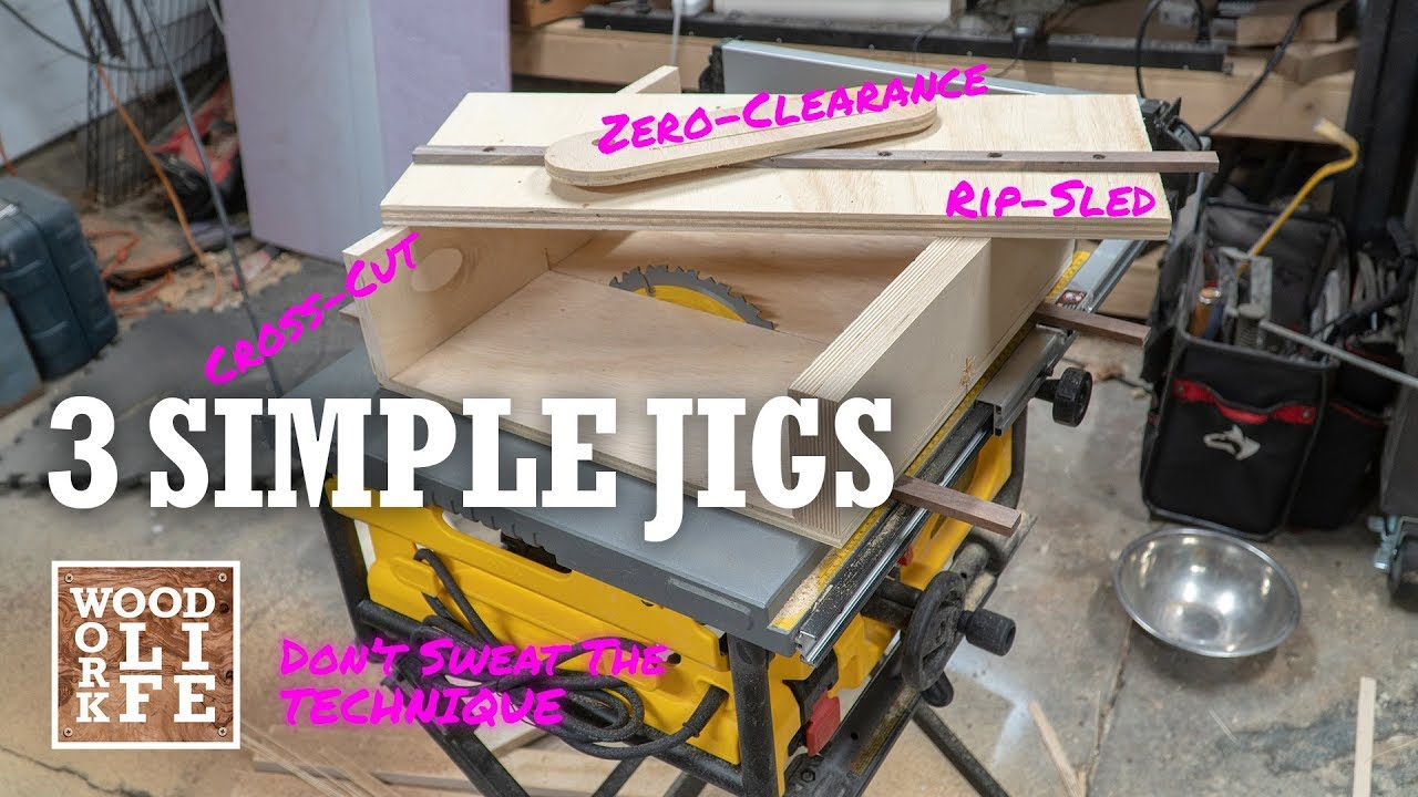 3 Simple Jigs to get Professional Results from any Table Saw | Shop Tips #1