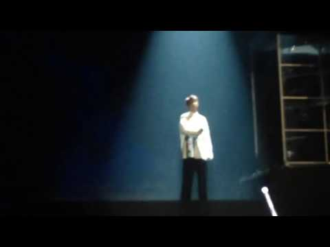 170319 WINGS TOUR BRAZIL - BTS RAP MONSTER REFLECTION, ARMYS CHANTING WE LOVE YOU