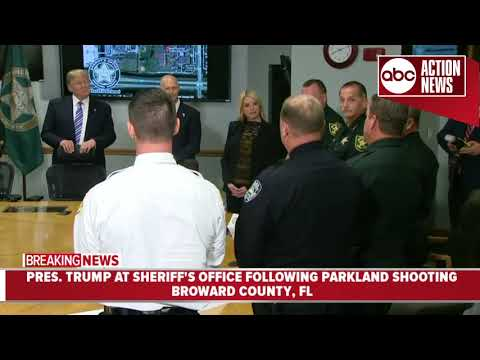 President Trump thanks Broward County Sheriff's Office