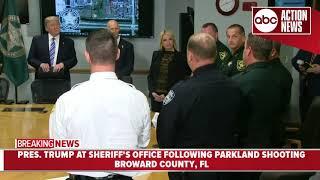 President Trump thanks Broward County Sheriff's Office