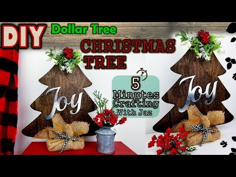 5 MINUTES CRAFTING No. 14 | DOLLAR TREE FARMHOUSE CHRISTMAS TREE DIY
