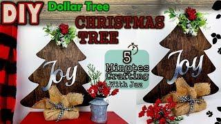 5 MINUTES CRAFTING No. 14 | DOLLAR TREE FARMHOUSE CHRISTMAS TREE DIY