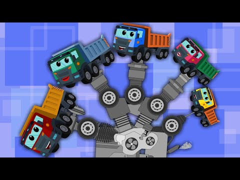 finger family song  dump truck for kids