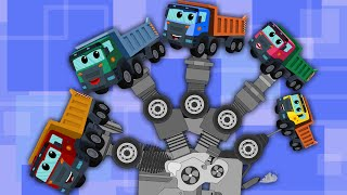 finger family song |dump truck for kids
