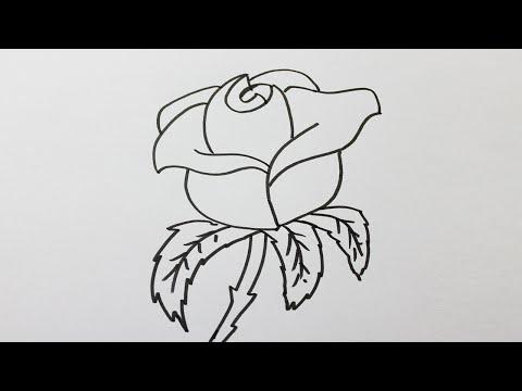Dessin simple a faire youtube - Dessiner une rose facile ...