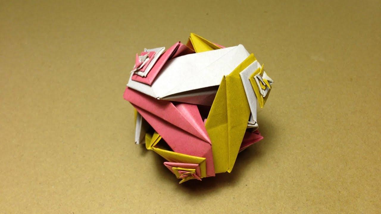 すべての折り紙 ユニット折り紙多面体折り方 : ... 折り方 作り方 立体 ユニット