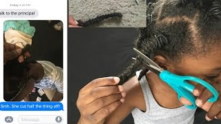 daughter cut off her natural hair prank mom cries