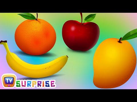 Surprise Eggs Learn Fruits for Kids with Fruit Names | Apple, Orange, Banana| ChuChu TV Egg Surprise