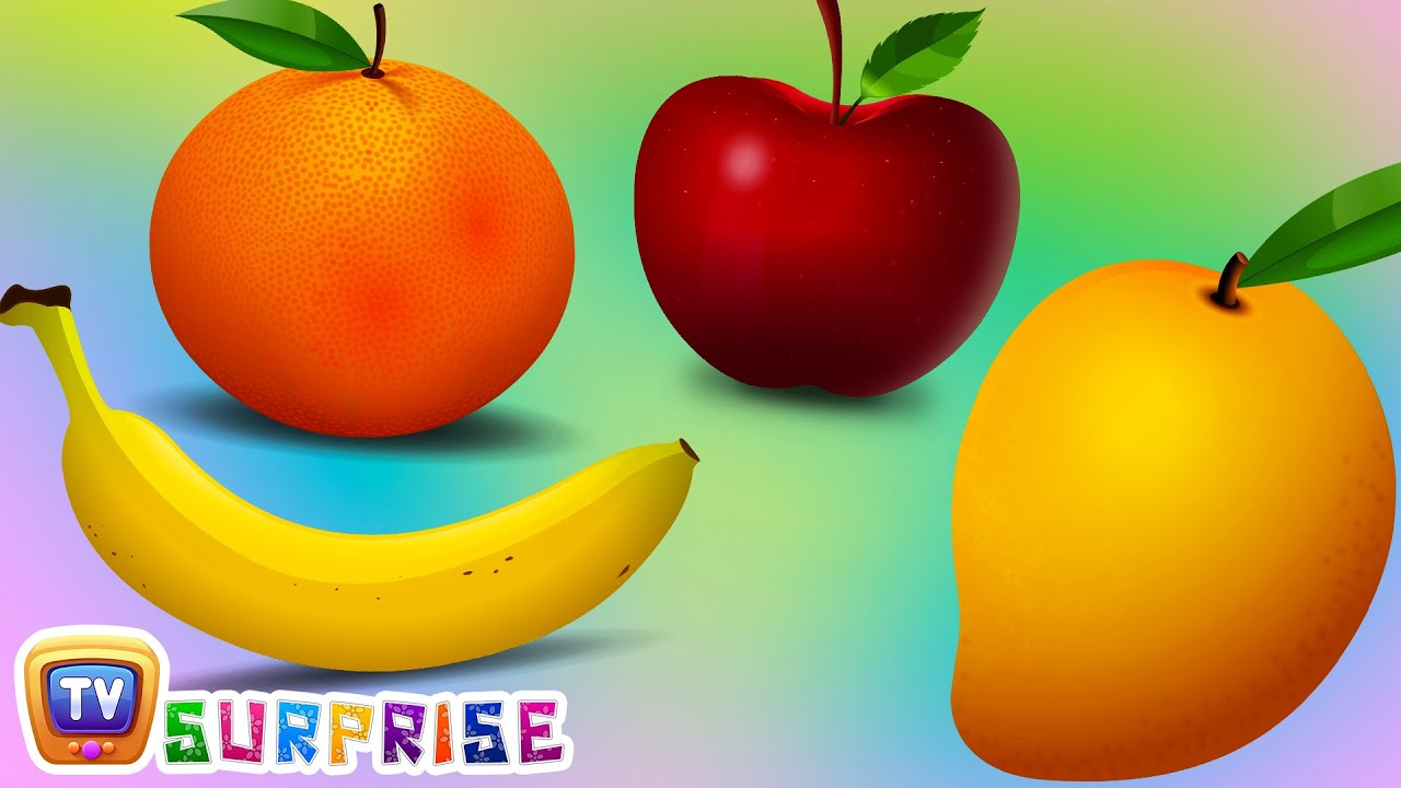 Surprise Eggs Learn Fruits for Kids with Fruit Names