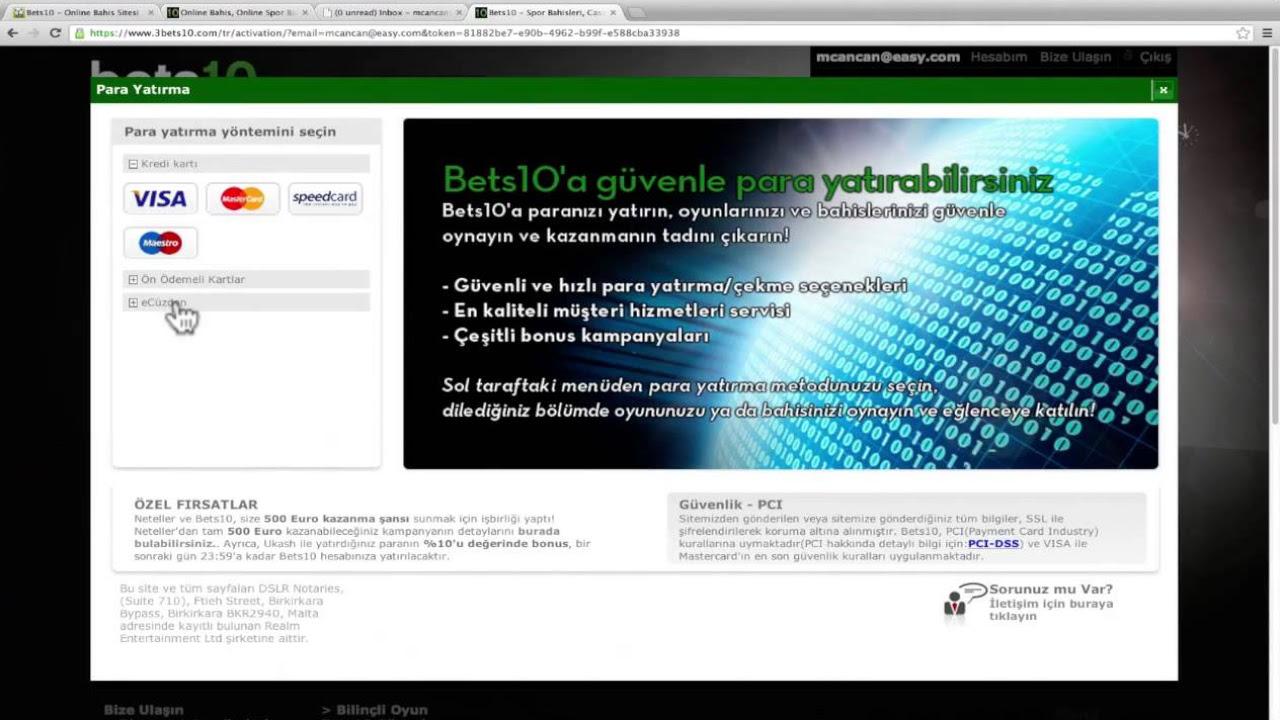 Bets10 Canlı Casino, Casino Oyunları ve Para Yatırma