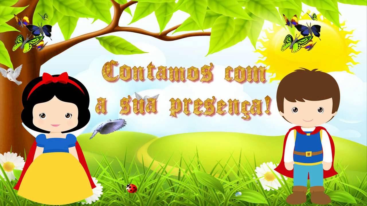 Convite Animado Branca De Neve Youtube