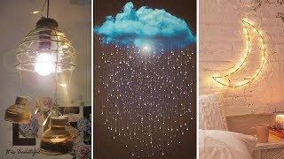 DIY Room Decor! DIY Amazing Raining Cloud With Light (DIY Wall Hanging Ideas, Lights, etc.)