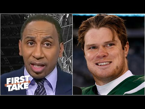 Stephen A. reacts to the Jets trading Sam Darnold to the Panthers | First Take
