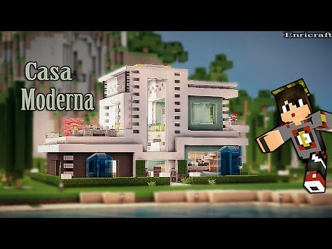 Minecraft casa moderna de lujo y bonita 1 youtube for Casa moderna total white