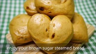 手揉 心型 超濃 黑糖 紅糖 饅頭 brown sugar steamed bread 使用 金屬 蒸籠 電鍋 含 蒸煮 技巧 及 發酵 程度 判斷
