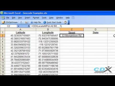 Geocoder in Excel - YouTube