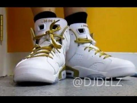 new concept 29b30 2867e 2012 Air Jordan Golden Moment Medal 6 Sneaker Pack W   DjDelz Plus On Feet  - YouTube
