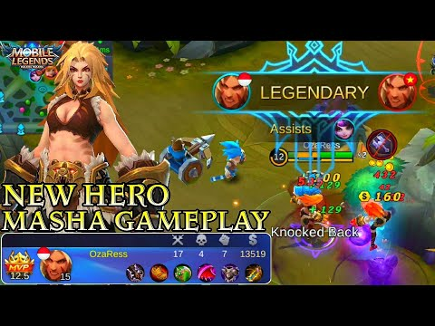 New Hero Masha Gameplay - Mobile Legends Bang Bang