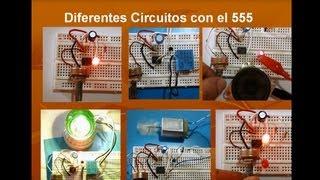 6 proyectos diferentes de Electrónica con 555