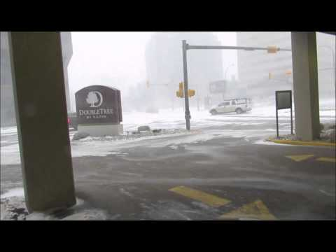 Valentine's Day Blizzard Hits Regina - February 14, 2015