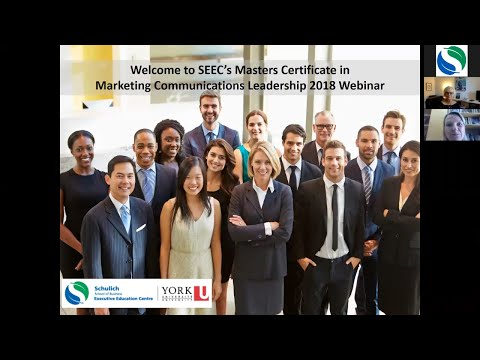 Masters Certifiate In Marketing Commmuniations Webinar 2018