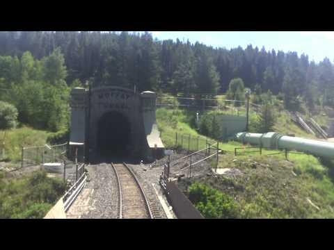 Westbound California Zephyr exits Moffat Tunnel