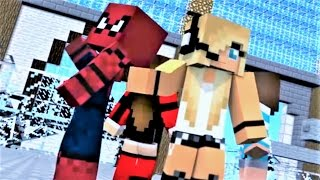 "1 HOUR​ MINECRAFT SONG! ""Nemesis Part 2"" Spiderman, Psycho Girl, Little Square Face and Batman!"