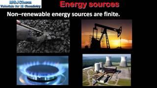 C.1 Renewable and non-renewable energy sources (SL)