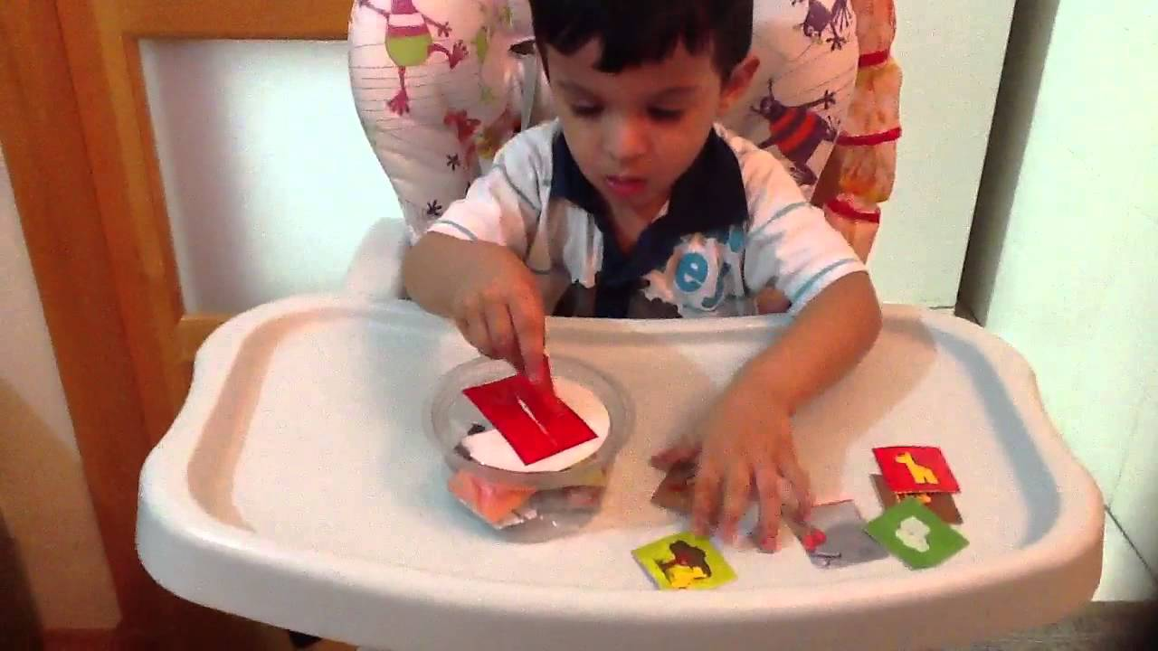 2 Year Old Moksh Plays With Montessori Coin Box Inspired