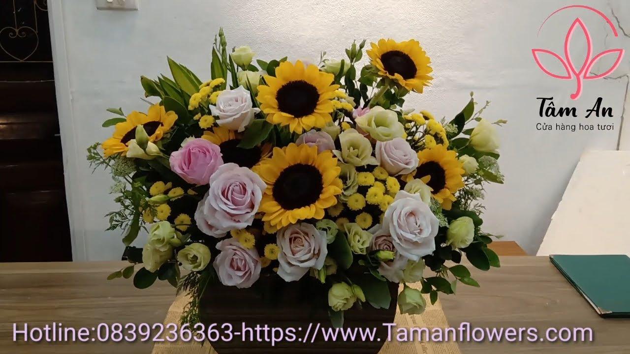 hoa chúc mừng sinh nhật đẹp hạ vàng | Shop hoa tươi Tâm An