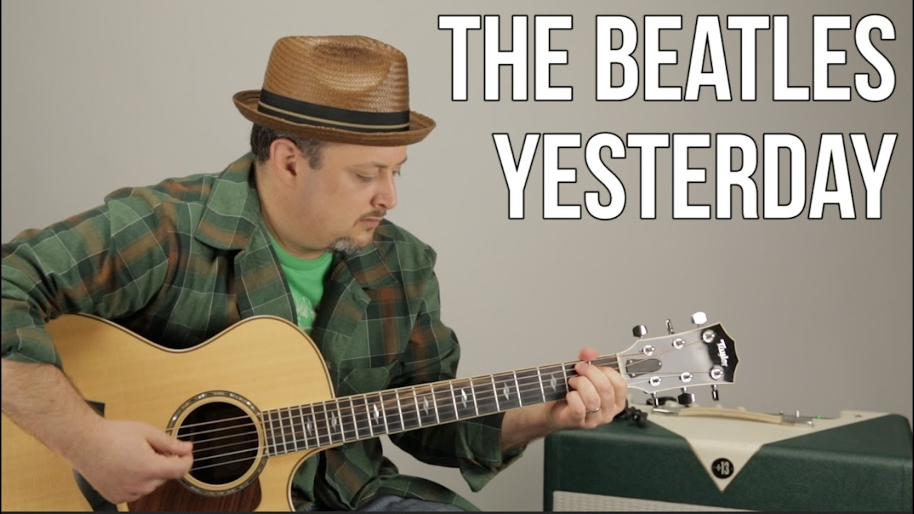 The Beatles - Yesterday - Guitar Lesson - How to Play on Acoustic Guitar