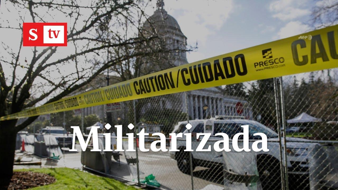 En alerta y militarizada: Así luce Washington por posesión de Joe Biden   Semana Tv